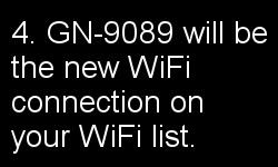 fourth instruction screen for connecting to your wifi