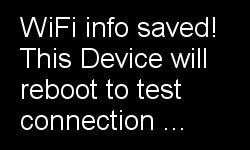 OLED screen confirms that you have loaded the input form for wifi network name (SSID) and password