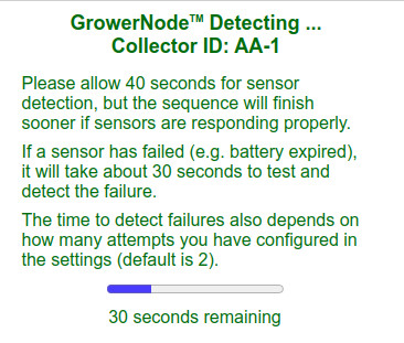 this is the detection process timer screen